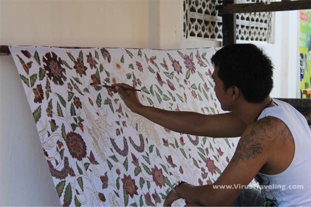 Batik Lukis taman Sari Jogja