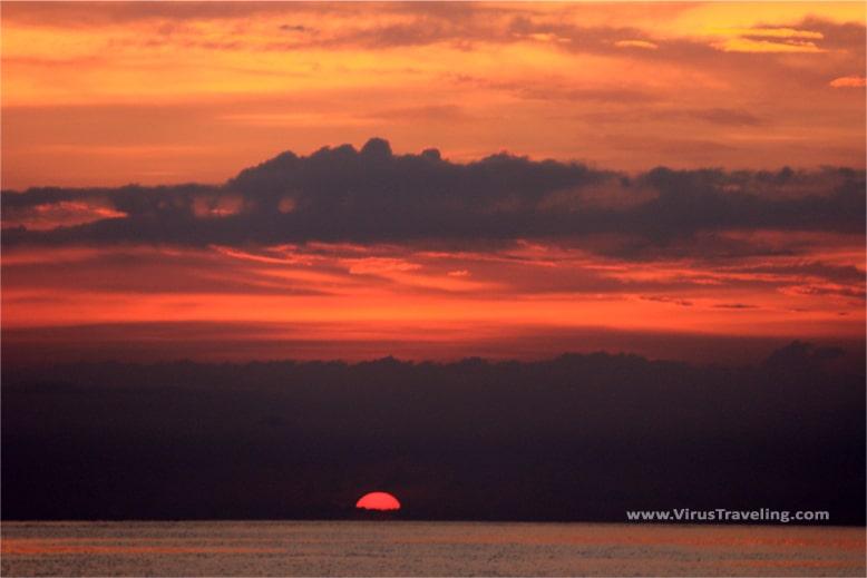 Sunset yang cantik di Sengigi Beach