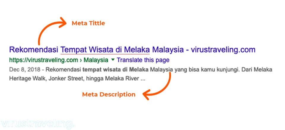 Contoh meta tittle dan meta description