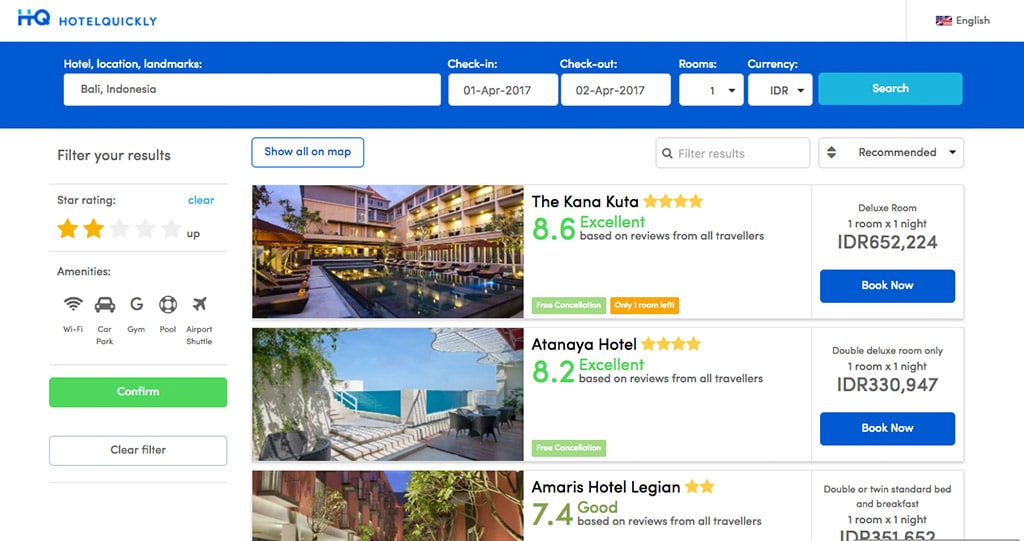 Website Hotel Quickly