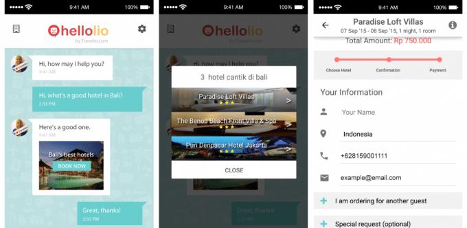 Aplikasi HelloLio Travelio