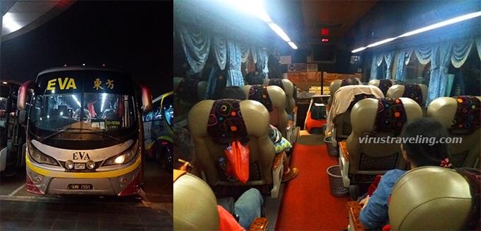 Bus Eva Sumo tujuan Pontianak menuju Kuching