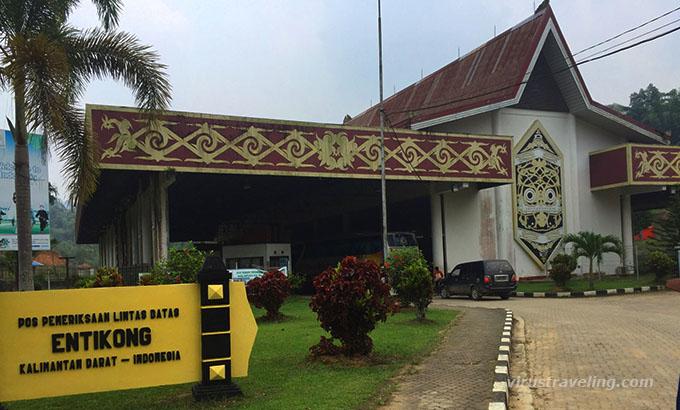 Pos Lintas Batas Negara Perbatasan Entikong Kalimantan