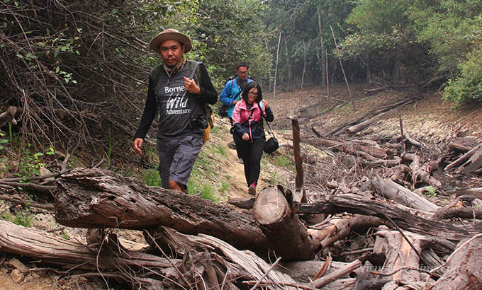 Sungai Kruing Kalimantan di Musim Kemarau