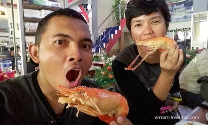 Makan Paliat Udang bareng Vira Indohoy