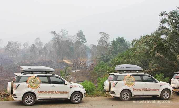 Terios 7 Wonders saat terjadi kebakaran hutan di Kalimantan