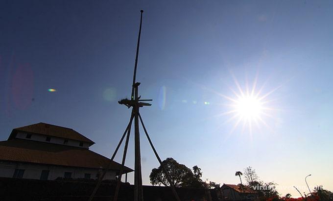Tiang bendera di Benteng Keraton Buton