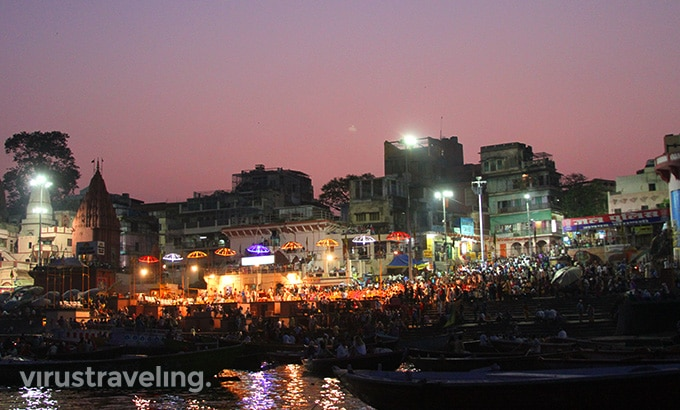 Varanasi Gangga Night Pooja Ceremony