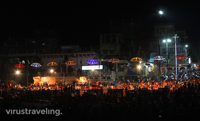 Varanasi Night Pooja Ceremony at Gangga River