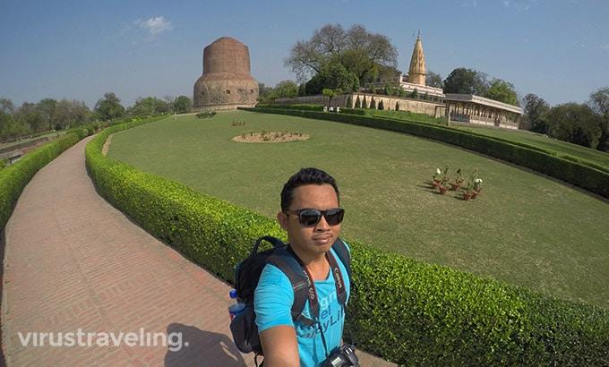 Sarnath Deer Park Varanasi Selfie