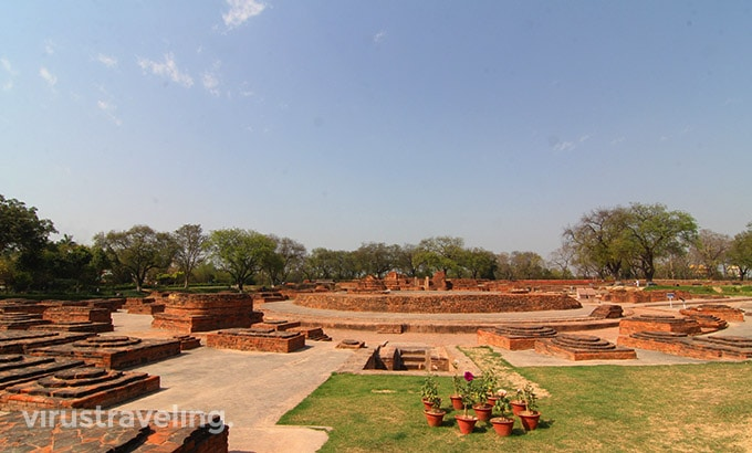 Dharmarjika Stupa Excavation Sarnath