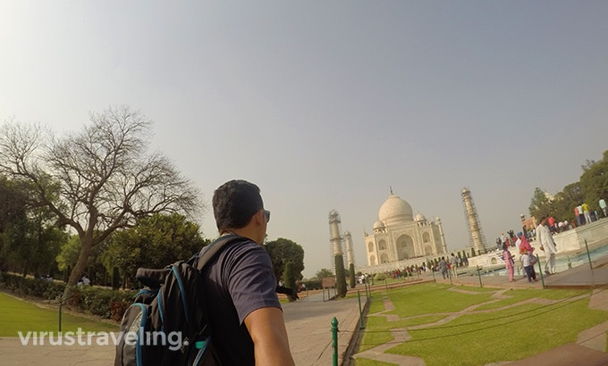 Selfie di Taj Mahal