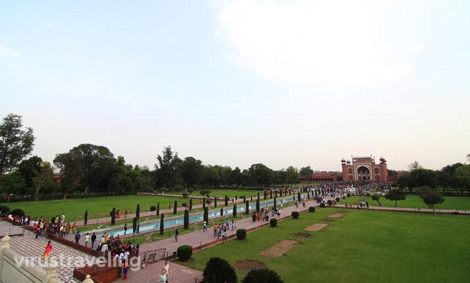 View Paradise Garden Taj Mahal