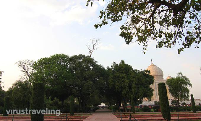Paradise Garden Taj Mahal India