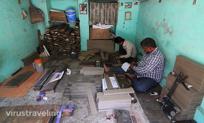 Pembuat Cetakan Mesin Kain Sari India