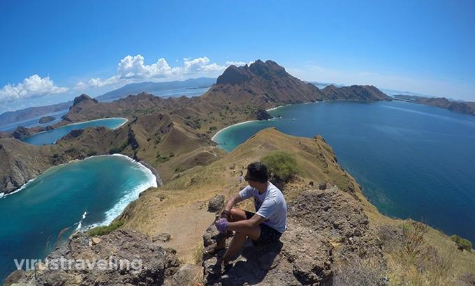 Pemandangan Puncak Pulau Padar Flores Labuan Bajo