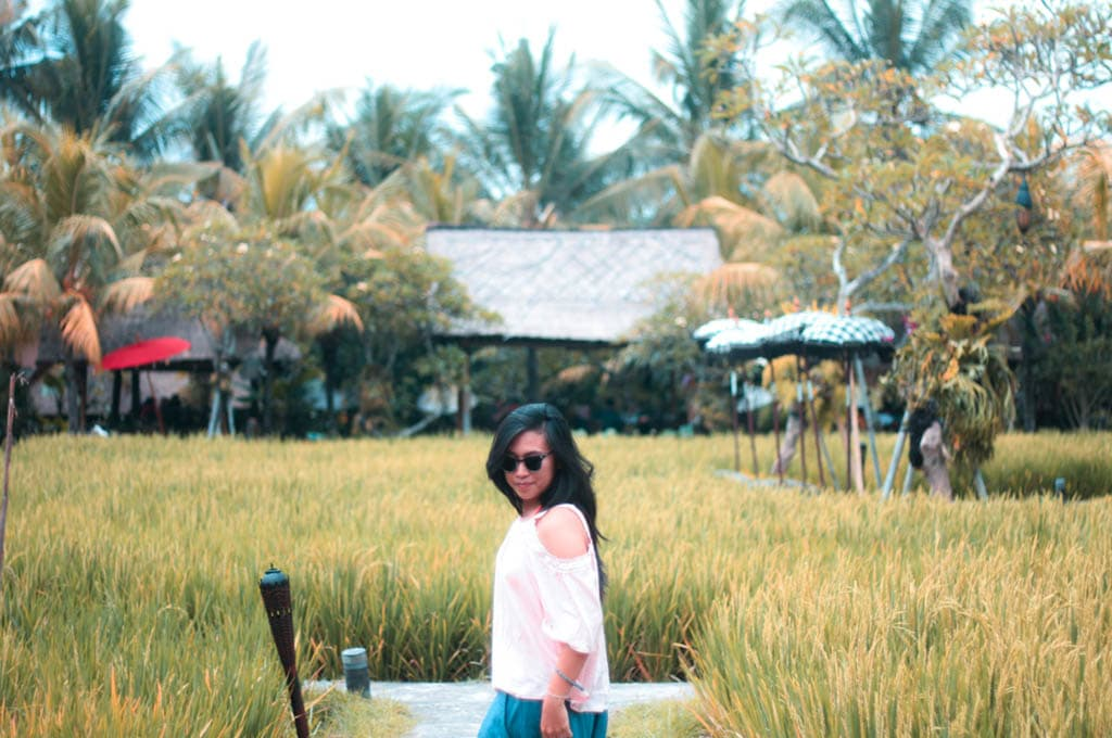 Trip of Wonders Blogger Mariza at Bebek Tepi Sawah