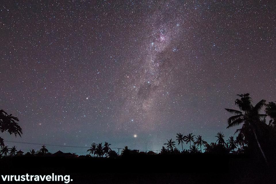 Langit waktu Nyepi di Bali