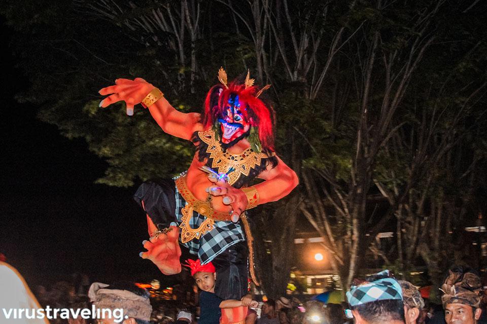 Rupa Ogoh-ogoh saat Nyepi di Bali