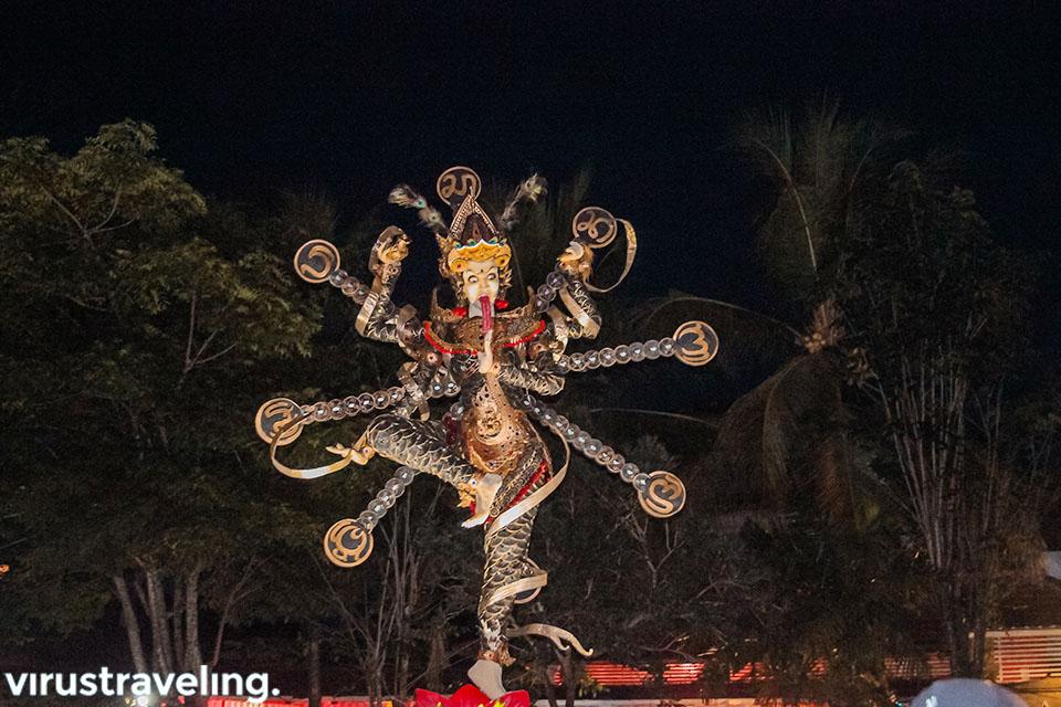 Salah satu Ogoh-ogoh yang diarak saat Nyepi di Bali