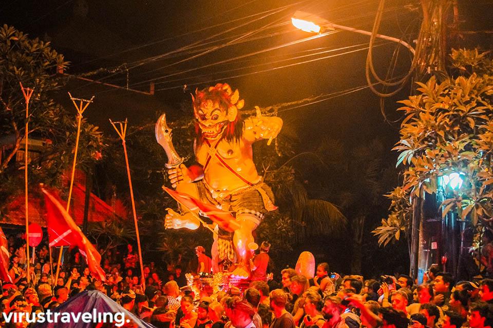 Semaraknya perayaan ogoh-ogoh saat Nyepi di Bali