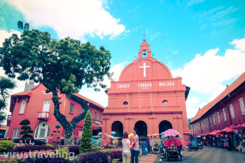 Tempat Wisata di Melaka Malaysia: Christ Church Melaka