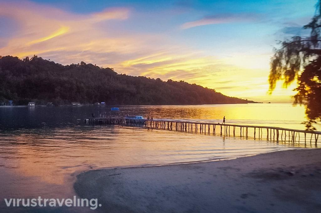 Sunset di Pulau Katupat Togean