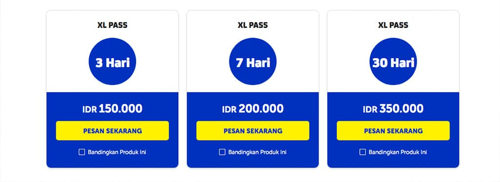 XL Pass Paket Internet Luar Negeri