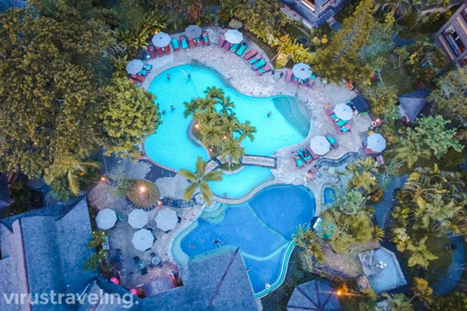 Drone View Hotel Vila Lumbung Seminyak