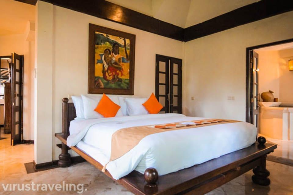 Master Bedroom Hotel Vila Lumbung