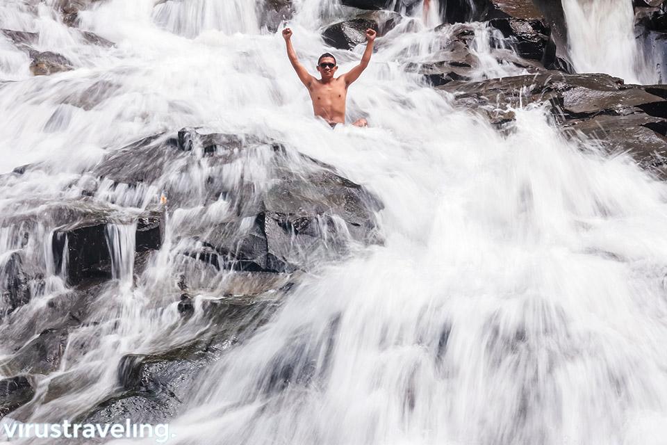 Serunya ke air terjun Goa Rang Reng