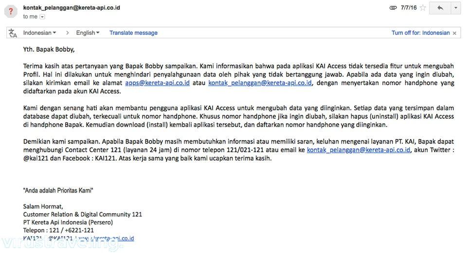 email dari kereta api indonesia