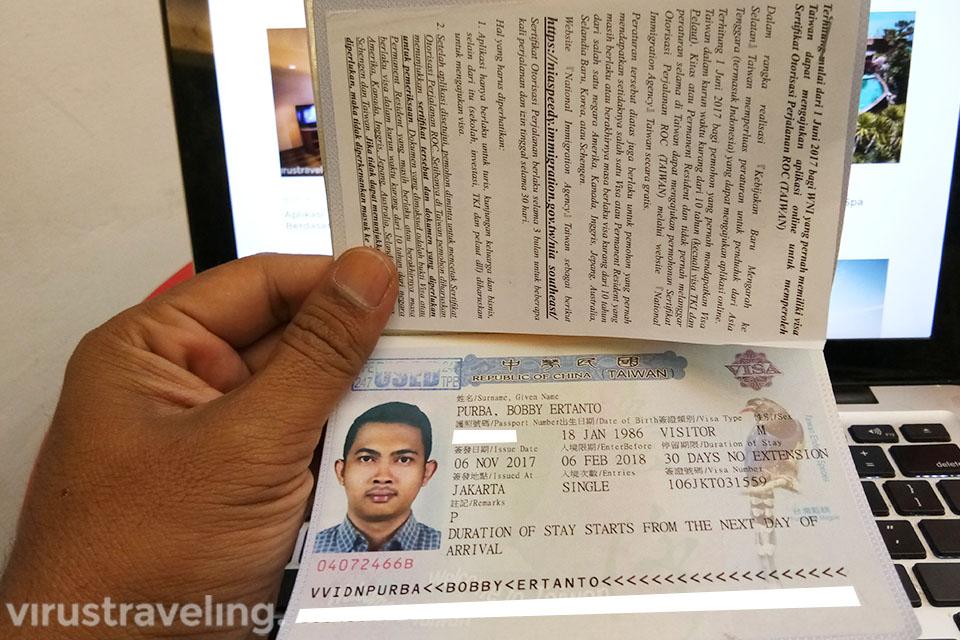 Mengurus Visa ke Taiwan Indonesia
