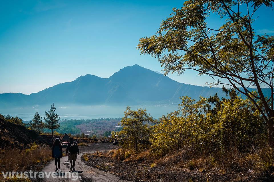 Pemandangan Saat Turun Gunung Batur