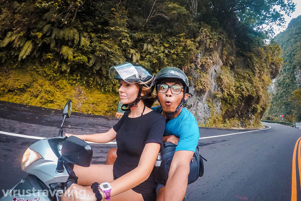Riding at Taroko Gorge Taiwan