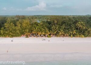 View Drone Pantai Ngurbloat Pulau Kei