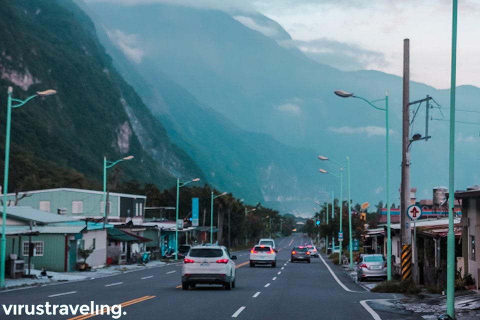 Jalanan di Hualien menuju Taroko Gorge