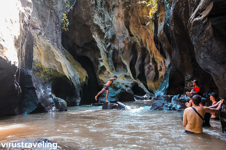 Behind the scene at hidden canyon Bali