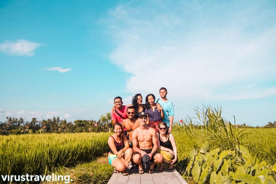 Persawahan di Hidden Canyon Bali