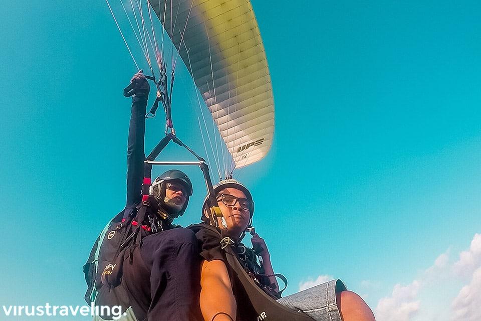 sesaat setelah terbang bali paragliding