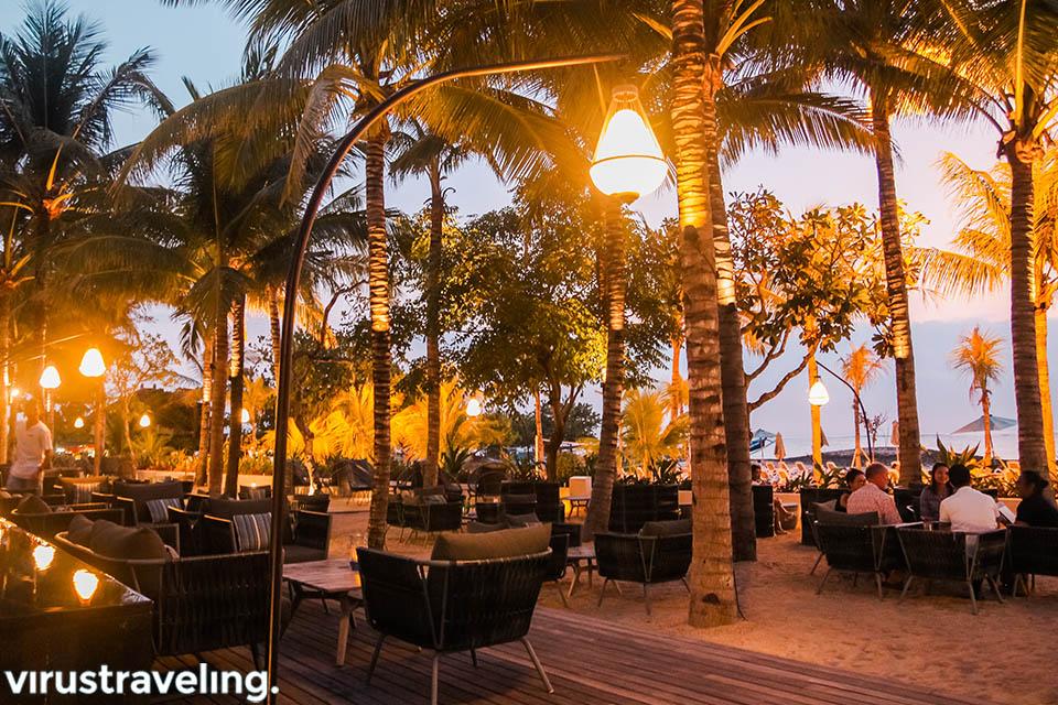 sunset at sands restaurant