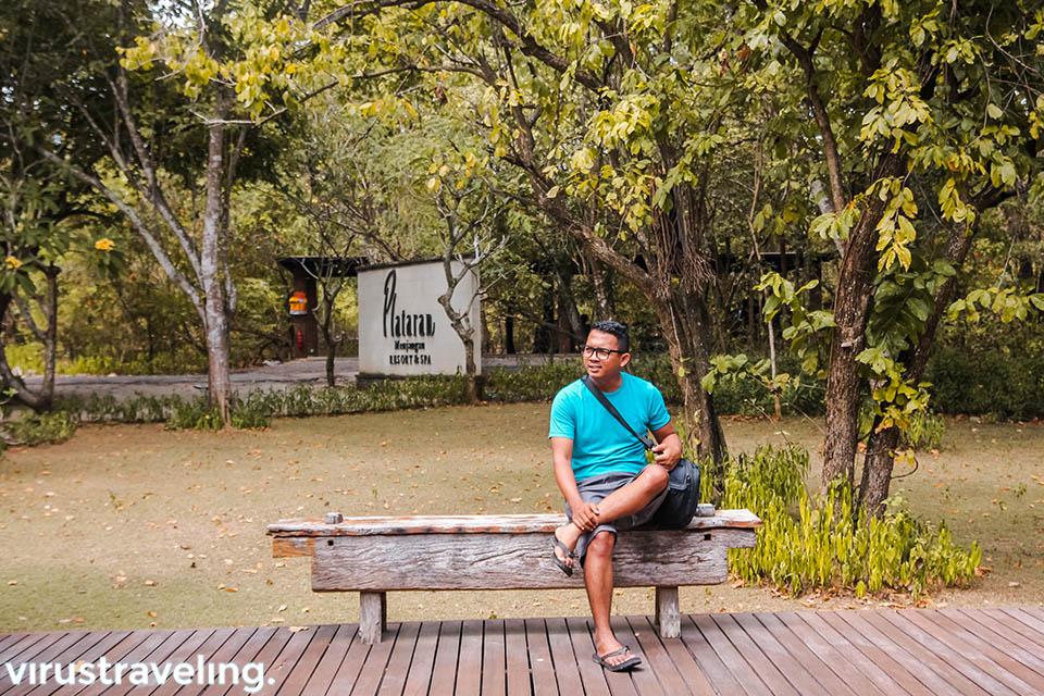 Sedang menikmati pagi di Plataran Menjangan Resorts