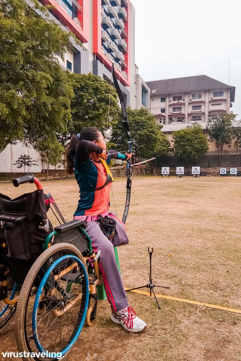 Mba Ijah salah seorang atlet panahan Para Games 2018