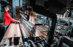 Mesin tua pembuat kain sari India