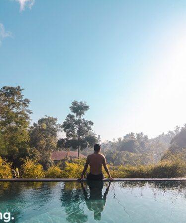 The Sanctoo Villa pool view