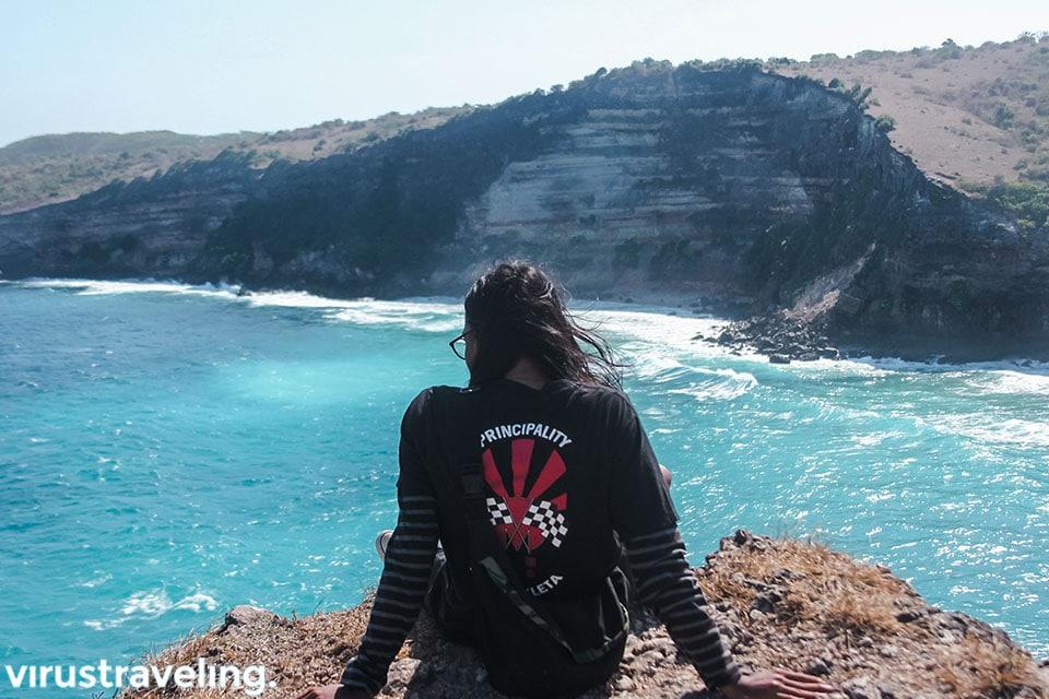 Pemandangan dari tebing di Tanjung Ringgit