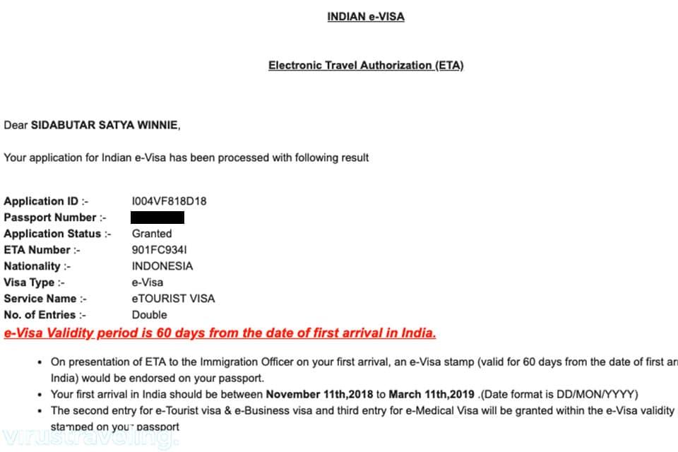 Visa India untuk WNI Gratis