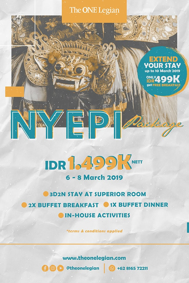 Paket Nyepi 2019 The One Legian Hotel