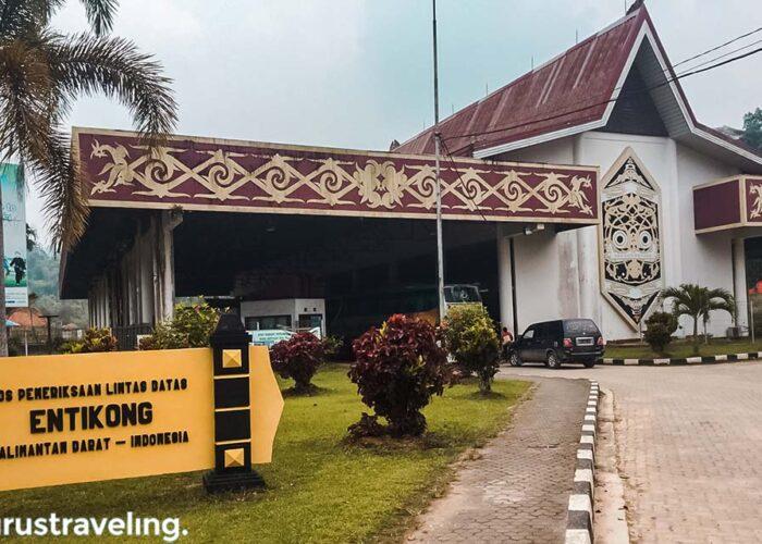 Pos perbatasan Entikong Kalimantan Barat