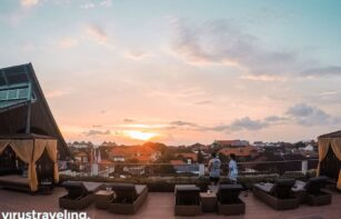 Sunset di rooftop The One Legian Hotel